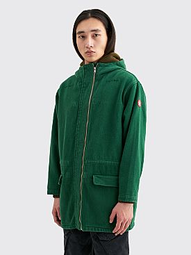 Cav Empt Fleece Inner Zip Jacket Green