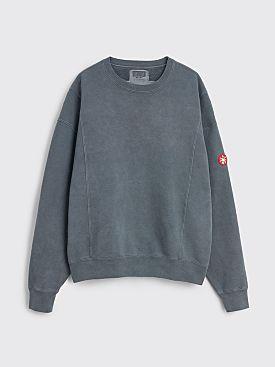Cav Empt Overdye Cut Line Crew Neck Sweatshirt Grey