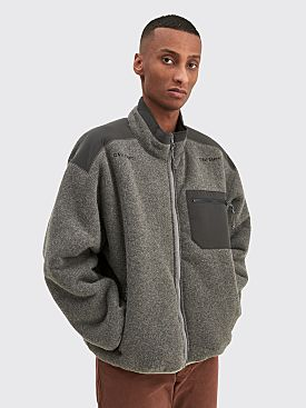 Cav Empt Furry Back Fleece Zip Up Grey