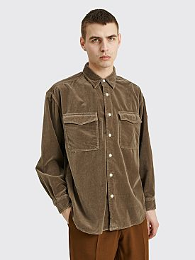 Cav Empt Velvet Shirt Brown