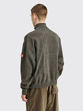 Cav Empt Half Zip Sweater Charcoal