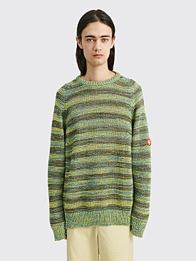 Cav Empt Stripe Loose Waffle Mix Knit Green
