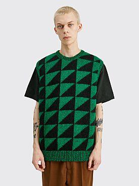 Cav Empt Devide Knit Vest Green