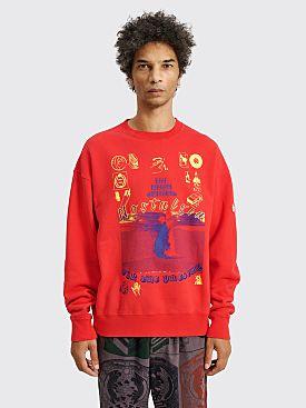Cav Empt Nostalgia Crew Neck Sweater Red