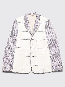 Comme des Garçons Homme Plus Jacquard Panel Jacket Grey
