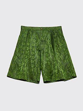 Comme des Garçons Homme Plus Jacquard Shorts Green