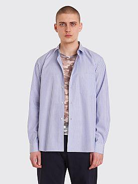 Comme des Garçons Homme Plus Hybrid Shirt Blue Stripes / Grey Camo