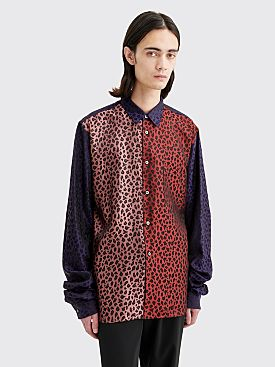 Comme des Garçons Homme Plus Extended Sleeves Shirt Leopard