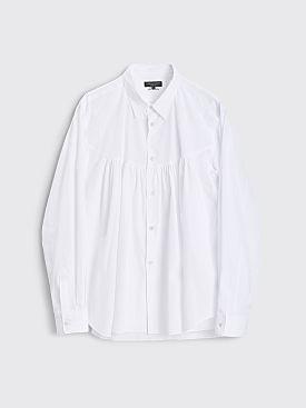 Comme des Garçons Homme Plus Ruched Panel Shirt White