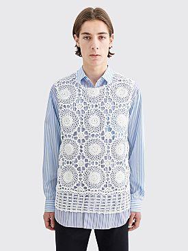 Comme des Garçons Homme Plus Crochet Front Vest White
