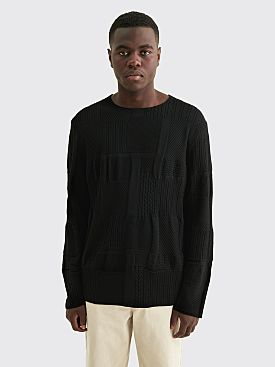 Comme des Garçons Homme Plus Worsted Yarn Wool Pattern Sweater Black