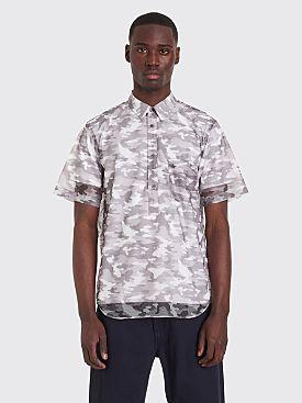 7ba66e7441f52 Comme des Garçons Homme Plus Short Sleeve Shirt Camouflage Mesh Grey