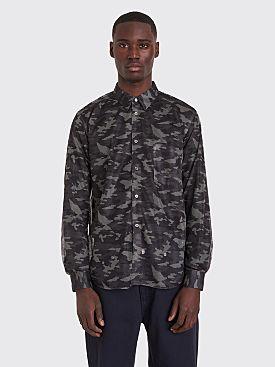 Comme des Garçons Homme Plus Shirt Camouflage Mesh Black