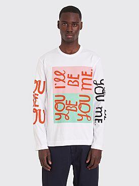 Comme des Garçons Homme Plus Printed LS T-shirt White