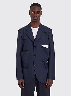 Comme des Garçons Homme Plus Cut Detail Jacket Navy