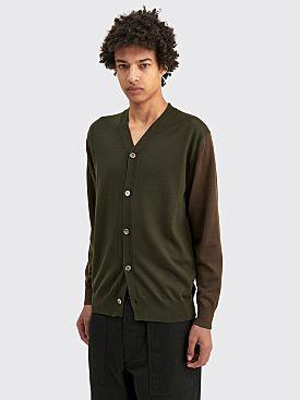 Comme des Garçons Homme Cardigan Green Khaki