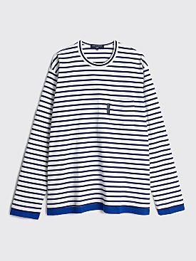 Comme des Garçons Homme Stripe Long Sleeve T-shirt Navy / White