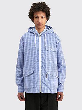 Comme des Garçons Homme Hooded Shirt Jacket Blue