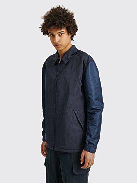 Comme des Garçons Homme Wool Coach Zip Jacket Navy