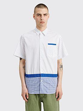 Comme des Garçons Homme Mix Panel Shirt White / Blue