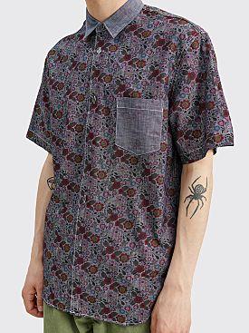 Comme des Garçons Homme Floral Panel Shirt Brown / Blue