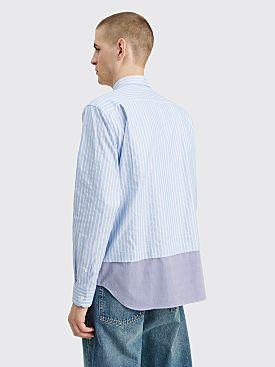 Comme des Garçons Homme Mix Stripe Panel Shirt Blue / White