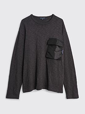 Comme des Garçons Homme Nylon Pocket Knit Sweater Charcoal