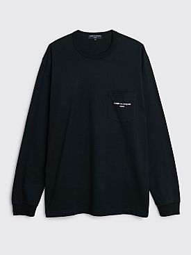 Comme des Garçons Homme Pocket Logo LS T-shirt Black