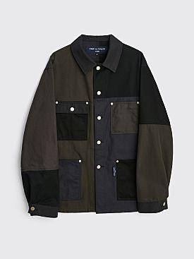 Comme des Garçons Homme Mixed Cotton Jacket Black