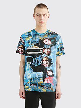 Comme des Garçons Homme Plus Pattern T-shirt Blue