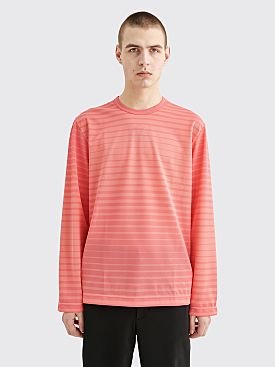 Comme des Garçons Homme Plus Mesh T-shirt Stripe Pink