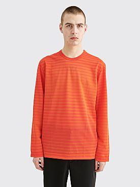 Comme des Garçons Homme Plus Mesh T-shirt Stripe Red