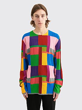 Comme des Garçons Homme Plus Worsted Yarn Intarsia R Check Sweater Multi