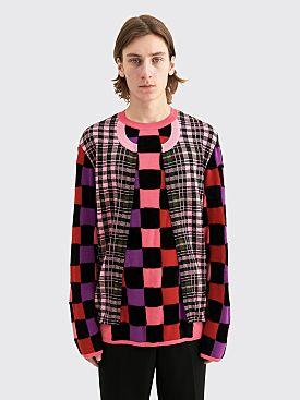 Comme des Garçons Homme Plus Intarsia L Check Knit Sweater Multi