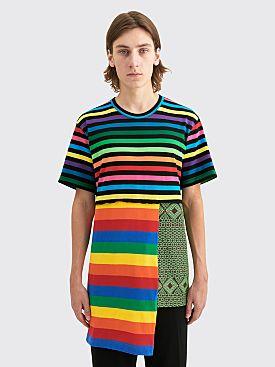 Comme des Garçons Homme Plus Long Patchwork T-shirt Multi Color