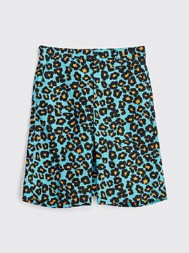 Comme des Garçons Homme Plus Animal Pattern Nylon Canvas Shorts Green