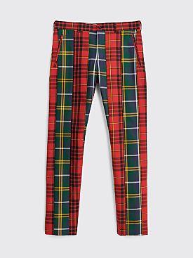 Comme des Garçons Homme Plus Tartan Check Pants Red Green