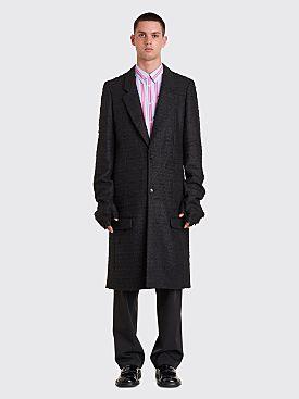 Comme des Garçons Homme Plus Glove Wool Coat Black