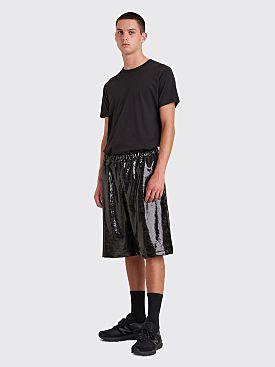 Comme des Garçons Homme Plus Snake Foil Shorts Black