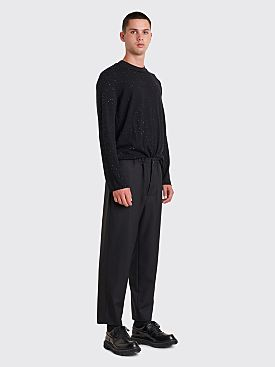 Comme des Garçons Homme Plus Wool Check Pants Black