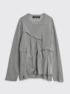 Comme des Garçons Homme Plus Draped Panel Sweater Silver
