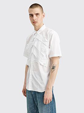 Comme des Garçons Homme Plus Pleated Detail Shirt White