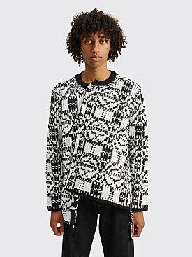 Comme des Garçons Homme Plus Jacquard Knit Sweater Black / White