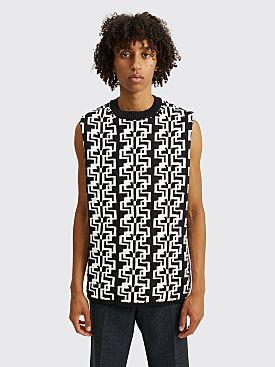 Comme des Garçons Homme Plus Jacquard Knit Vest Black / White