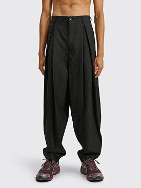 Comme des Garçons Homme Plus Diamond Check Jacquard Wool Pants