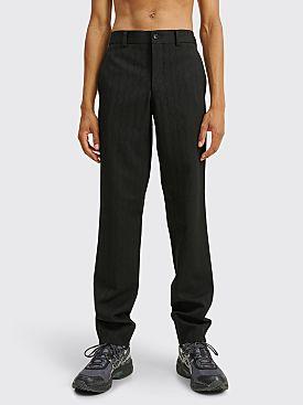 Comme des Garçons Homme Plus Wavy Stripe Jacquard Pants Black