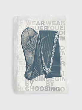 Comme des Garçons Homme Plus Knee Length Logo Socks Black