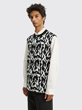 Comme des Garçons Homme Plus Button Up Jacquard Knit Vest