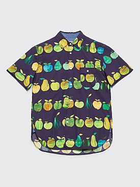 Junya Watanabe MAN Fruit Short Sleeve Shirt Purple / Green