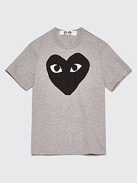 Comme des Garçons Play Big Heart T-Shirt Grey